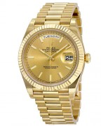 Rolex Day-Date 40 Champagne Dial 18K Yellow Gold President Automatic Men's Watch ref. 228238CSP
