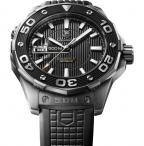 TAG Heuer Aquaracer 500m Calibre 5 automatic, the version with black dial and ru
