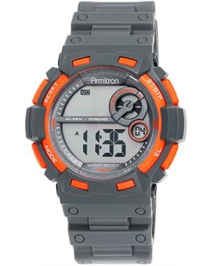 Armitron Chronograph 40/8320ORGTC, orange and grey
