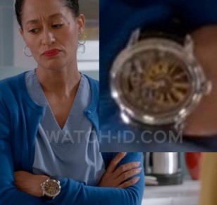 Tracee Ellis Ross wears a Audemars Piguet Millenary Selfwinding 4101 in Season 1, Episode 6 of the ABC comedy series Black-ish.