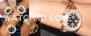 Sightings of the Aximum gold watch on the wrist of Kim Zolciak