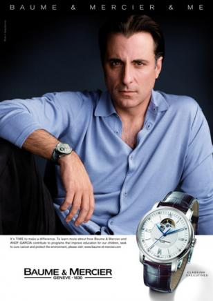 Andy Garcia wears a Baume & Mercier Classima Executives watch in this advisual.