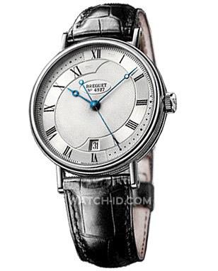 Breguet Classique Automatic, white gold, black leather strap