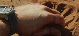 Close up of the Breitling Avenger Chrono on the wrist of Leonardo DiCaprio