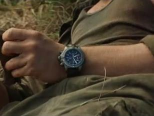 Leonardo DiCaprio wearing the Breitling Avenger Chrono with brown strap in Blood