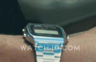 The details front of this Casio watch can just be spotted in this image, showing