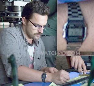 Jake Johnson wears a Casio A158WA-1 watch in Jurassic World.