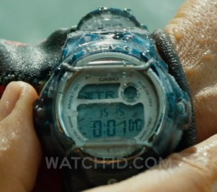 Blake Lively wears a Casio Baby-G BG169R-8 watch in The Shallows.