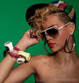 Rihanna wears several Casio Baby-G and mini G-Shock watches