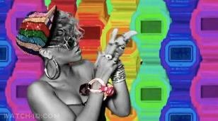 Casio watches in the background of Rihanna in the music video Rude Boy