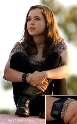 Casio CA53W-1 Calculator watch on the wrist of Ellen Page in Whip It