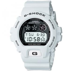 Casio G-Shock DW6900FS-8, which is not bright white but has a slightly darker sh