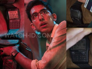Dev Patel wears a Casio Databank DBC-32-1AES in Chappie.