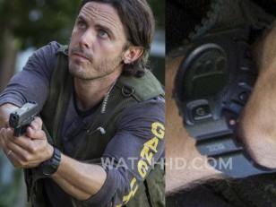 Casey Affleck wears a Casio G-Shock DW6900MS-1 in Triple 9