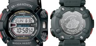 Front and back (with engraved Mudman logo) of the Casio G-Shock G9000-1V Mudman
