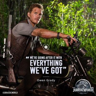 Chris Pratt wears a Casio G-Shock GD100-1B in Jurassic World.