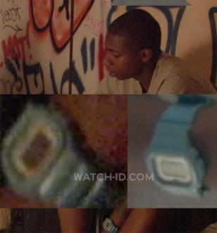 Ty Hickson wears a Casio G-Shock GLX5600A-2 in Gimme The Loot