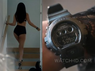 Selena Gomez wears a Casio G-Shock GMDS6900SM-1 in the music video Hands To Myself.