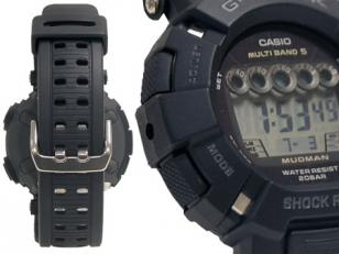 Casio G-Shock GW9000A-1 details: the strong rubber band and mud, dust and shock