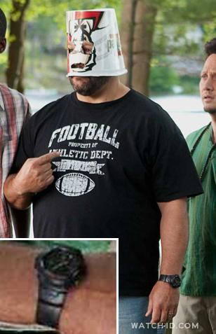 The wristband of the Casio G-Shock G100-1BV can be spotted on this photo of Kevi