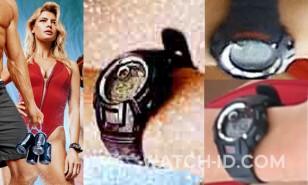Kelly Rohrbach wears a Casio G-Shock G-2900F-1V watch in Baywatch.