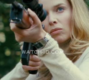 Thekla Reuten, as Mathilde, wearing a Casio classic ladies watch in The American