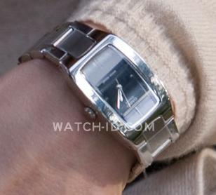 Close up of the Casio watch worn by Thekla Reuten in The American