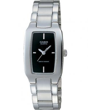Casio LTP1165A-1C black casual ladies watch, with metal band and black dial
