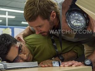 Hugh Jackman wears Casio Pro Trek PRG550-1A1 watch in Chappie.