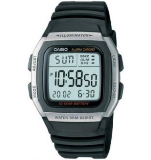 Casio W96H-1AV, alarm, chronograph, backlight, water resistant, Digital Sport Wa