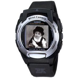 Casio WQV3-1BNDL Color Wrist Camera with black band