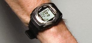 Close up of the Casio WQV3-1BNDL Color Wrist Camera