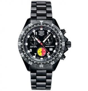 Chase-Durer Special Forces 1000XL UDT watch with black case and bracelet