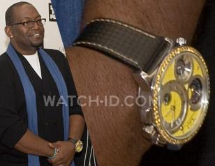 Randy Jackson wearing a yellow Curtis & Co. Big Time World on Ice at a Nike even