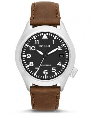 Fossil Aeroflite AM4512P brown leather watch
