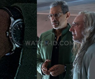 Jeff Goldblum wears a Hamilton Jazzmaster Automatic with GMT function in Independence Day: Resurgence.
