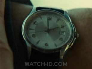 Liam Neeson wears a Hamilton Jazzmaster Gent Quartz H32411555 watch in the movie Taken 2, but the Hamilton logo was digitally removed
