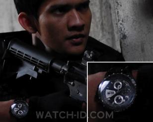 Martial arts actor Iko Uwais wears a Hamilton Khaki Automatic X-Mach watch in th