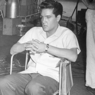 Elvis wearing his Hamilton Ventura watch