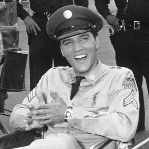 Elvis wearing his Hamilton Ventura