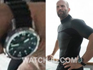 Jason Statham wears a IWC Aquatimer Automatic 2000 IW358002 in Mechanic: Resurrection.