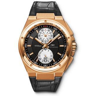 IWC Big Ingenieur Chronograph with 18-carat rose gold case, black dial, white su