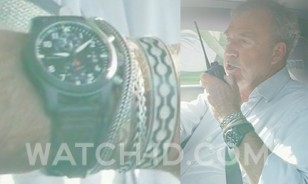 Jeremy Clarkson wears a IWC Pilot Chronograph Top Gun watch in the 3rd episode of the first season of The Grand Tour.