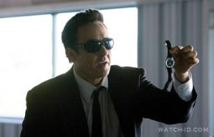 John Cusack wears a IWC Pilot Mark XVI in stainless steel with black crocodile l