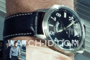 In Rubicon, James Badge Dale wears an IWC Spitfire UTC with black dial and black