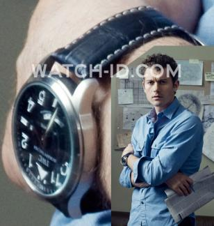 Actor James Badge Dale, as Will Travers in the tv series Rubicon, wears an IWC S
