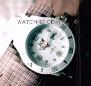 The Ice-Watch Sili Forever white appears fullscreen in the music video Dirty Bit