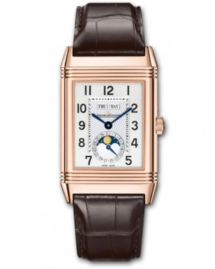 Jaeger-LeCoultre Grande Reverso Calendar, with pink gold case and brown alligator leather strap, ref. 3752520