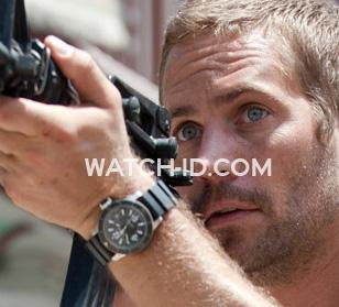 In the movie Fast Five Paul Walker as Brian O'Conner wears a Jaeger-LeCoultre Ma