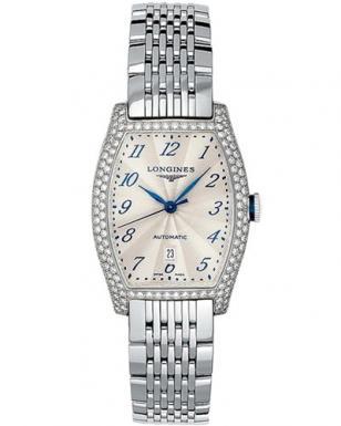 Longines Evidenza, stainless steel case and bracelet, diamonds on case, model L2